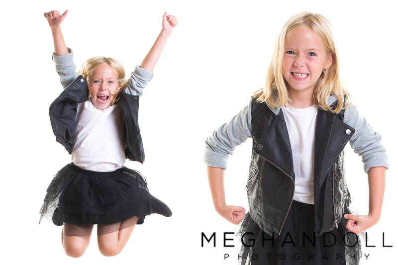 six-year-old-girl-makes-silly-poses-in-black-and-white-outfit