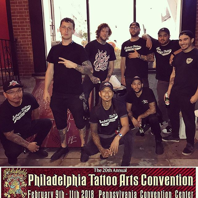 We're super excited about the #2018PhiladelphiaTattooConvention this weekend!! @omkaratattoo come check us out!
