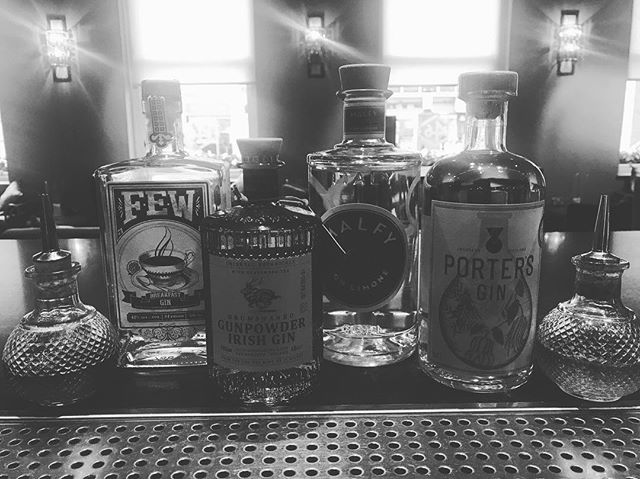 Our gin collection just keeps growing & growing @146pad  Let's beGin. 🍸🍸🍸🍸