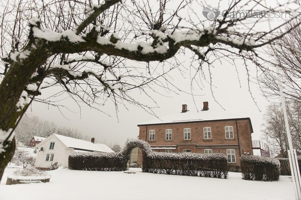øverland gård bryllup vinter fotograf