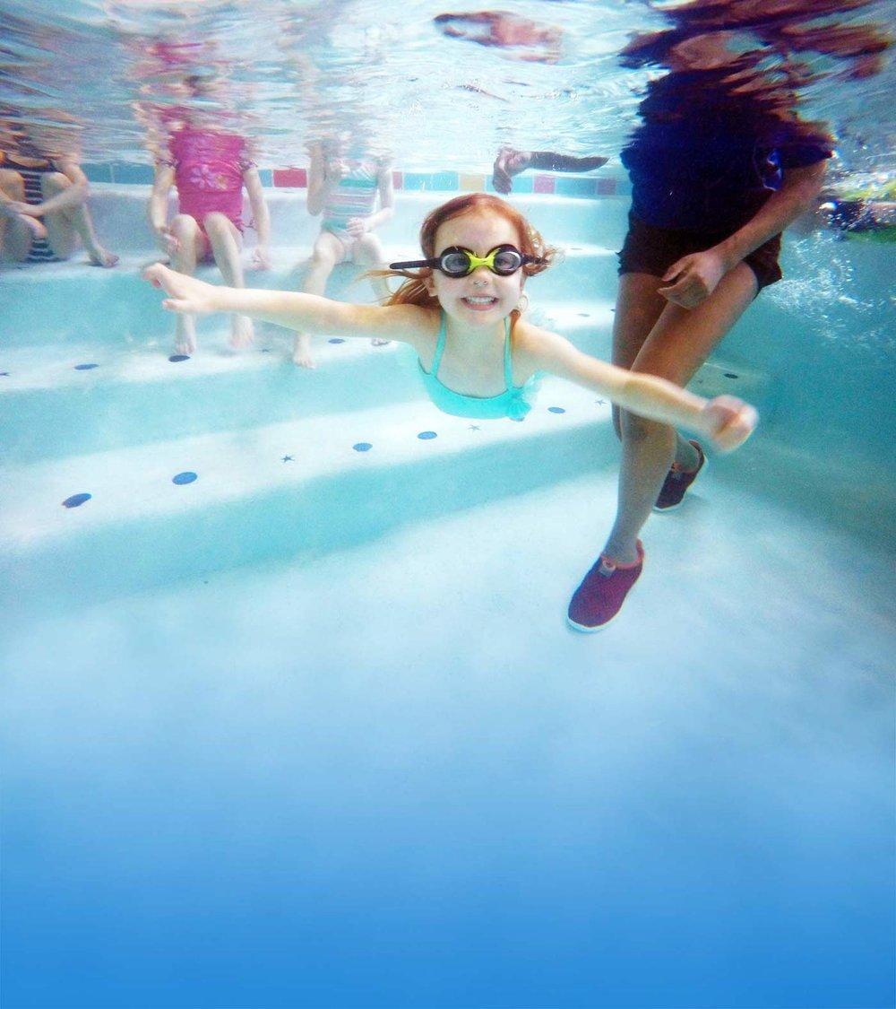Little fishes swim school for Little fish swim school