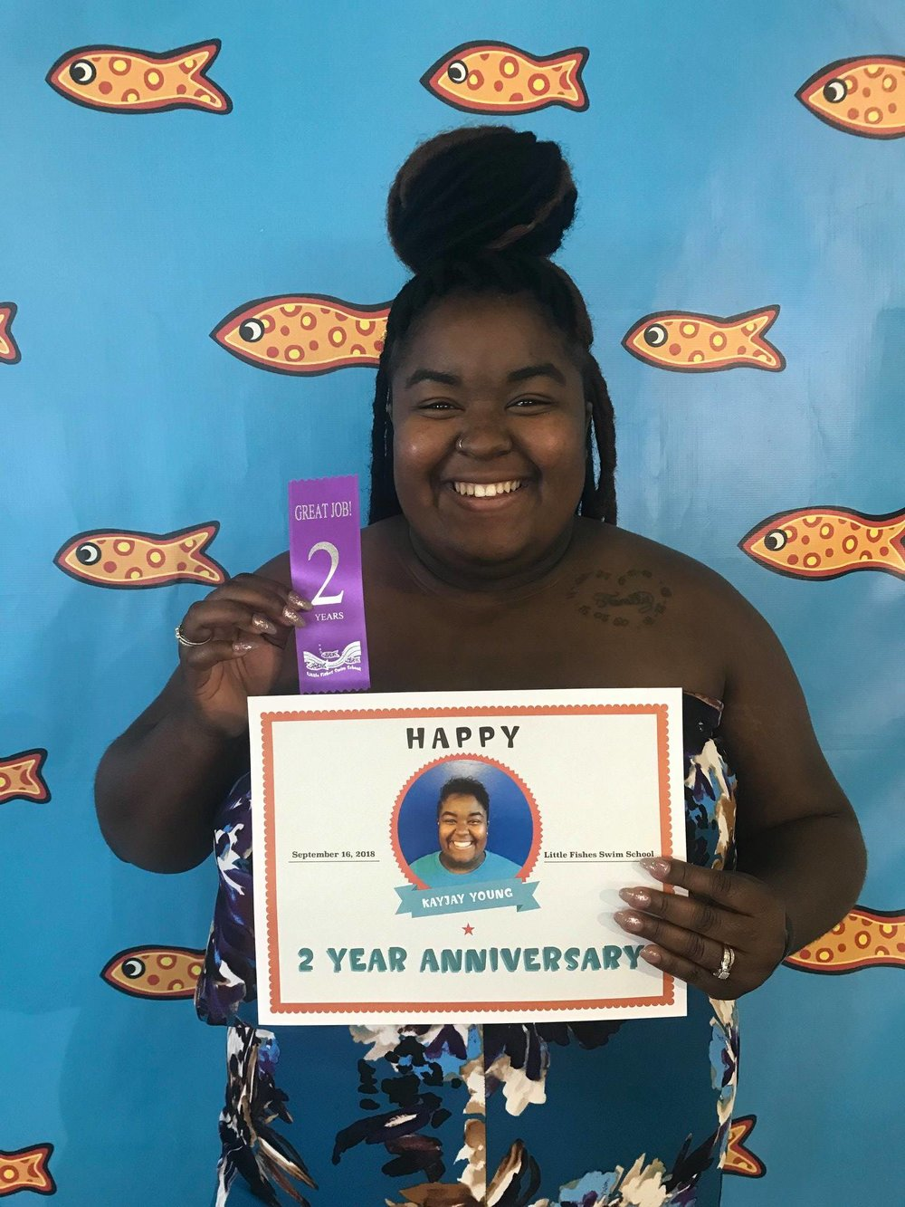 Last month we celebrated KayJay's 2 year fish-iversary!