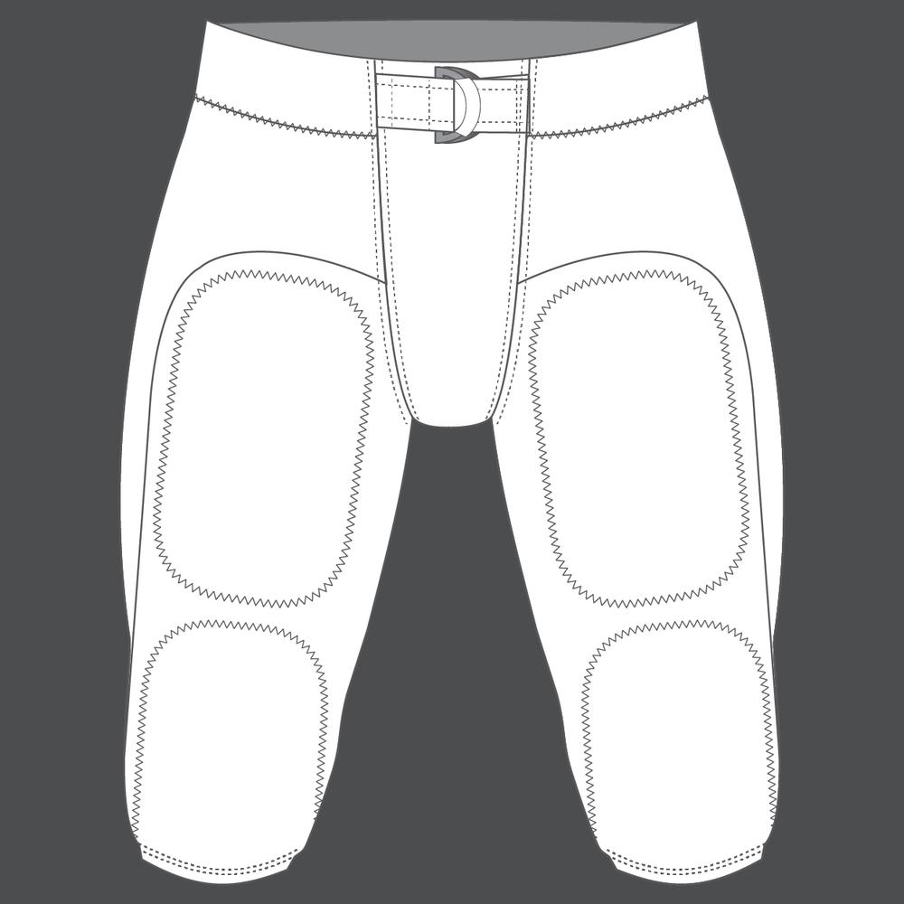 Custom Football Pants - Retail Price:$69.99Team Price 12-23:$59.99Team Price 24+:$49.99Team Price 50+:Contact your Emblem Rep for a custom quoteFabric:Heavyweight spandex / 4-way heavyweight stretch mesh side insertSizes:YS, YM, YL, XS, S, M, L, XL, XXL, XXXLOptions:N/A
