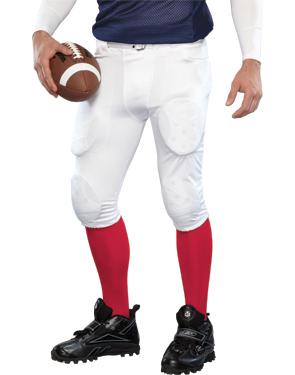 Stock Football Pants - Retail Price:$49.99Team Price 12-23:$34.99Team Price 24+:$29.99Team Price 50+:Contact your Emblem Rep for a custom quoteFabric:Heavyweight spandex / 4-way heavyweight stretch mesh side insertSizes:YS, YM, YL, XS, S, M, L, XL, XXL, XXXLOptions:N/A