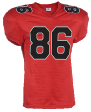 Stock Football Jersey - Retail Price:$44.99Team Price 12-23:$29.99Team Price 24+:$24.99Team Price 50+:Contact your Emblem Rep for a custom quoteSizes:YXS, YS, YM, YL, XS, S, M, L, XL, XXL, XXXLOptions: Team Name, Custom Name & NumberColors:Blue, red, green, black, white, yellow, navy, orange, maroon, turquoise, purple, forest green, grey, cream, and brown
