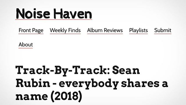 Excellent feature in the Philadelphia blog @noisehaven about everybody shares a name!!! Now's your chance to imagine what it sounds like without listening to it! 🙃🙂😉