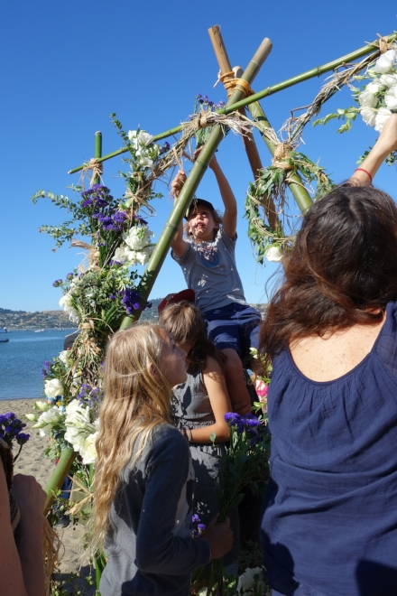 On June 8, 2018, to celebrate  #worldoceansday , nearly 100 adults and children from the Bay Area gathered together in Sausalito to celebrate with iced tea, lemonade, cookies and bouquets — the latter of which were carried to a nearby beach and collectively tied to a seven-foot tall bamboo heart. A similar celebration jointly occurred in Greece earlier in the day, with a twin heart covered in the flora of their locale. The dual flower-covered hearts are symbolic of the blue hearts that represent the  #hopespots  of  Mission Blue . The purpose of this joint event was to raise awareness for protecting our oceans. To cap off the celebration, Oscar award-winning director Louie Psihoyos joined our efforts and reminded us that social change happens when 10 percent of the population is committed to protecting our planet 100 percent of the time. Which means, small, dedicated groups of people can and do make waves of positive change happen.