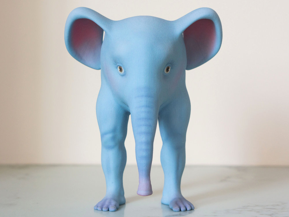 Full-Color Print of the Elephant from Shapeways