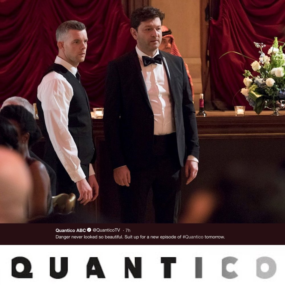 ALEXANDER SOKOVIKOV - Looking for something to watch as you wind-down from this weekend's MDW festivities? Head over to ABC.com and check out Friday's episode of QUANTICO. You will see quite a bit of this guy's mug as he makes his guest appearance playing 'Dmitri' on the action packed episode!