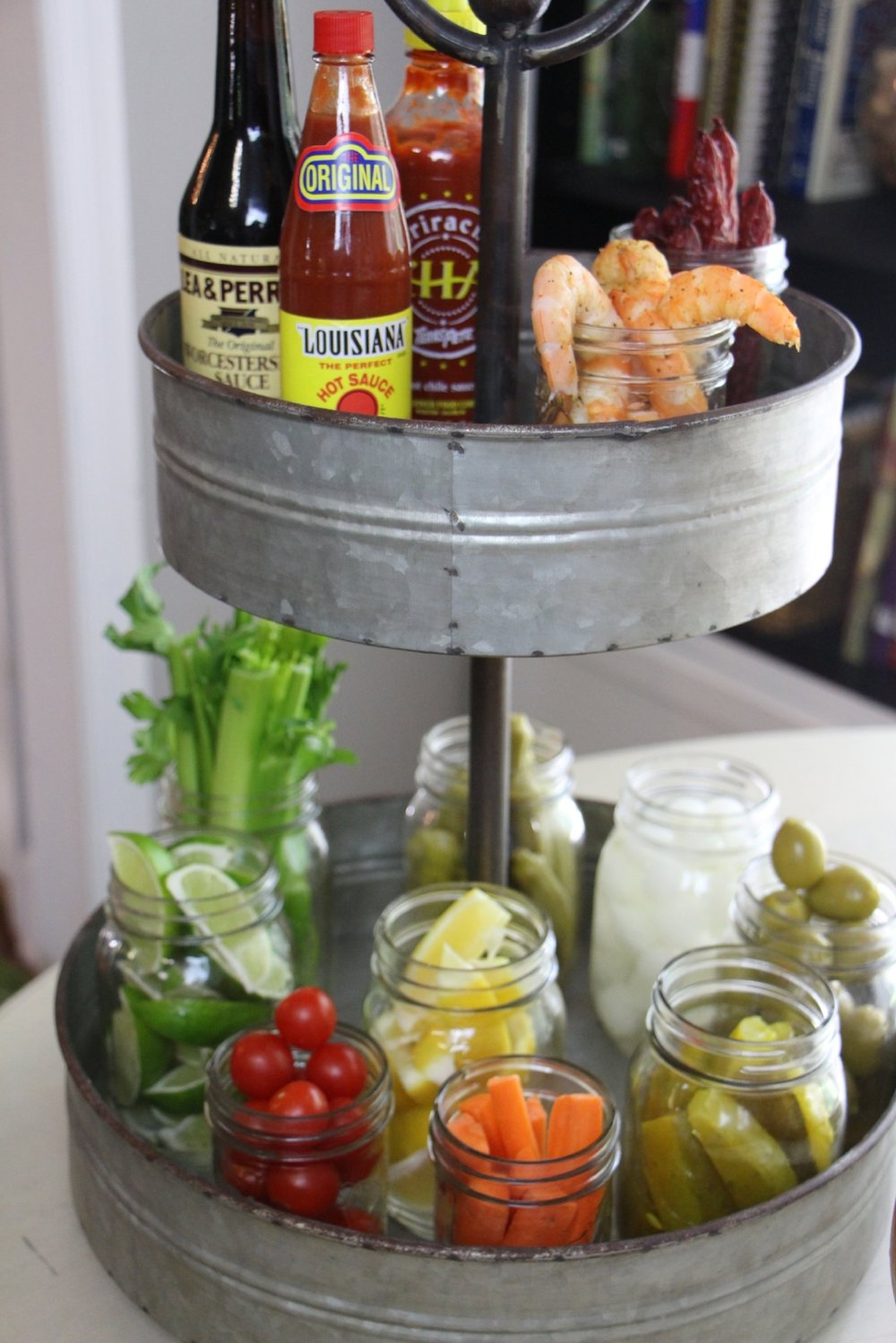 Tiered Tray condiments