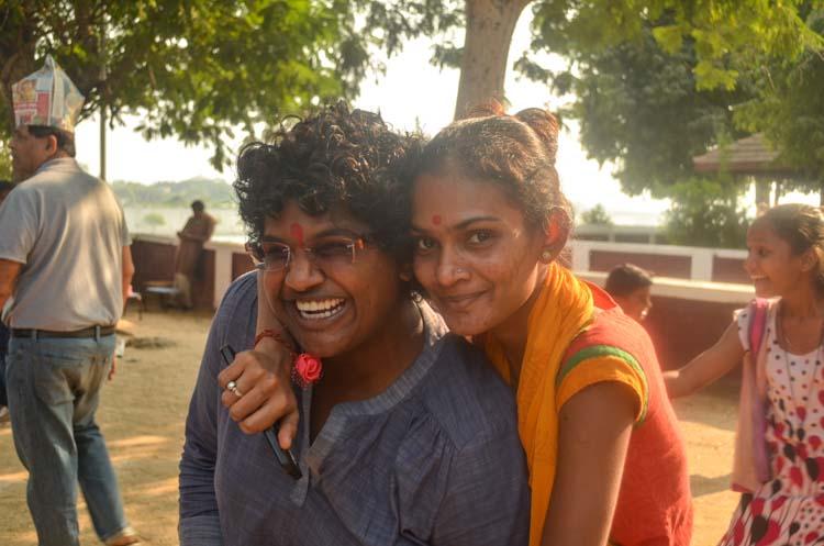 Amy and Vaishali, a teacher at the Kiran Center