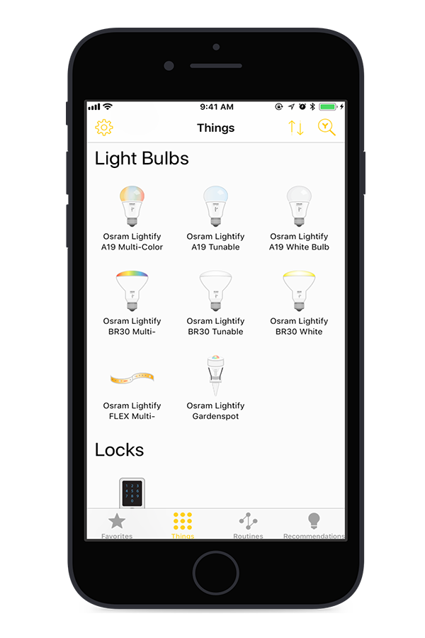 Yonomi - OSRAM SYLVANIA LIGHTIFY Support Added iPhone 02.png