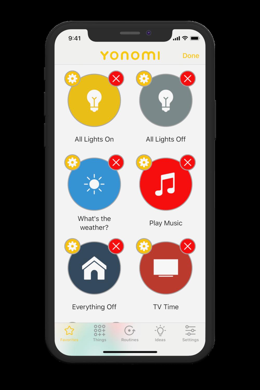 Yonomi - Edit Favorites Screenshot Black Clay iPhone 03.png