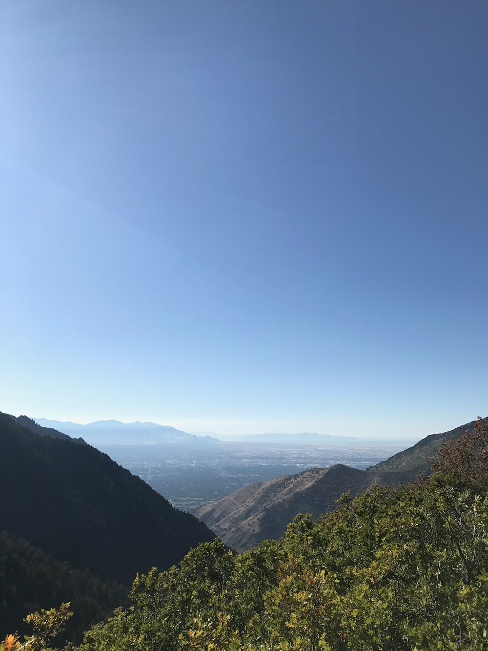 The views from the overlook of Salt Lake City. This was our end point for the day.