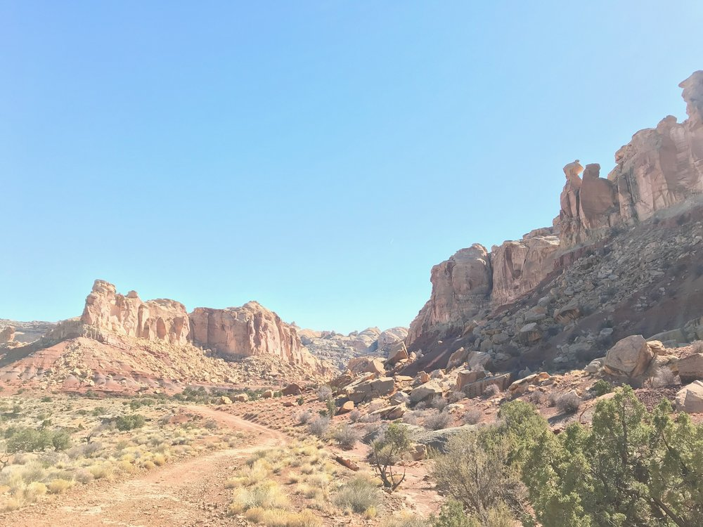 The gorgeous open land between the two canyons