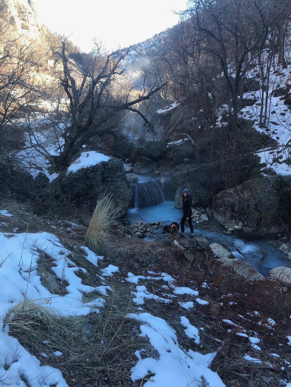 Misty blue waterfalls, be still my heart.