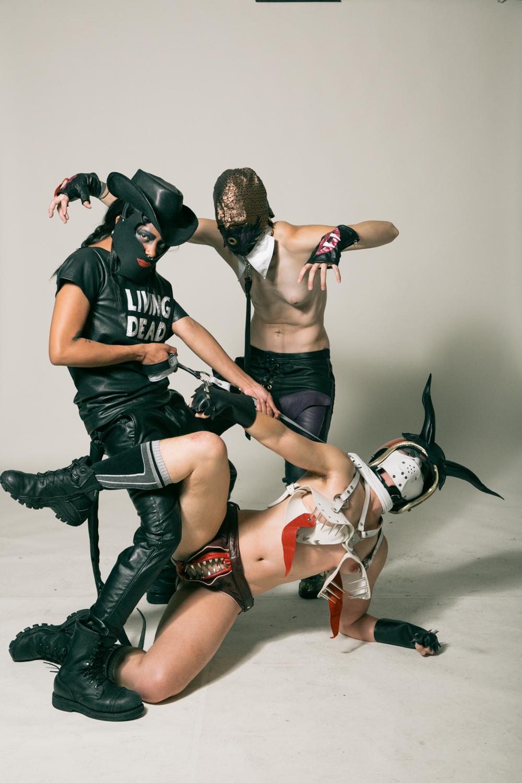 Photo: Tristan Crane  Models: Noxious, Justin DeKom, Jiz Lee