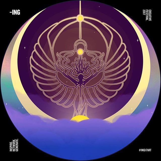 The moon rises 🌙 @ingcreatives #ING17art