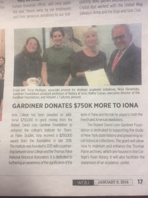 Coverage in the Westchester County Business Journal