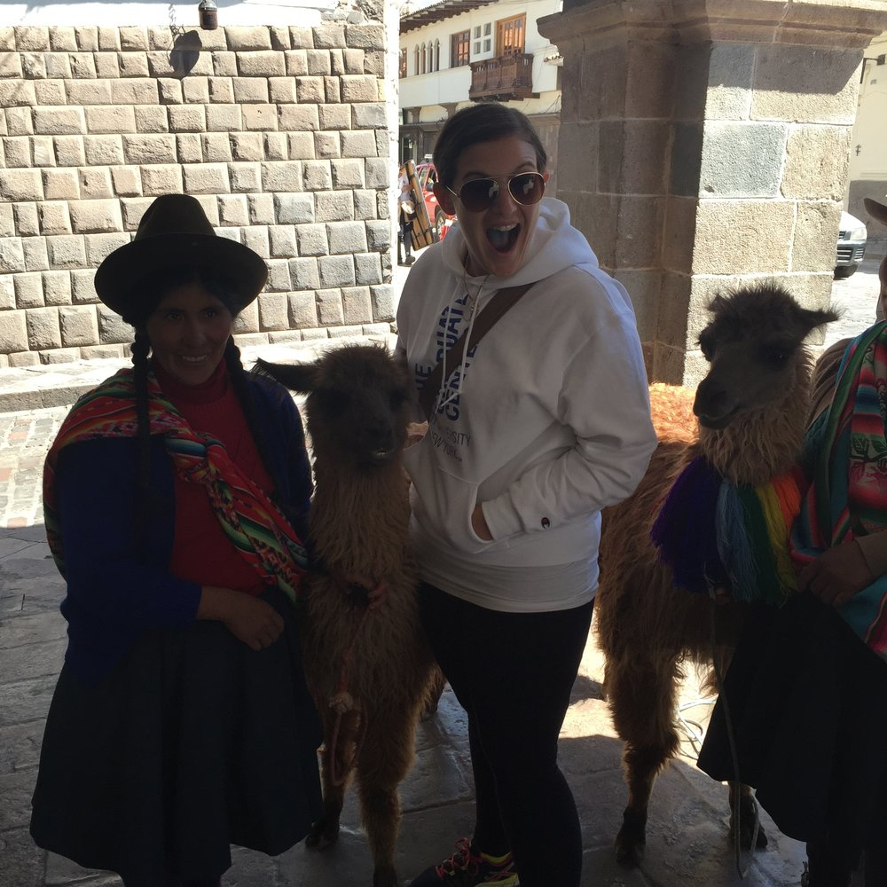 Meeting Martina the Alpaca in Cusco