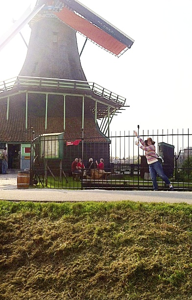 Titled at a Windmill in Holland