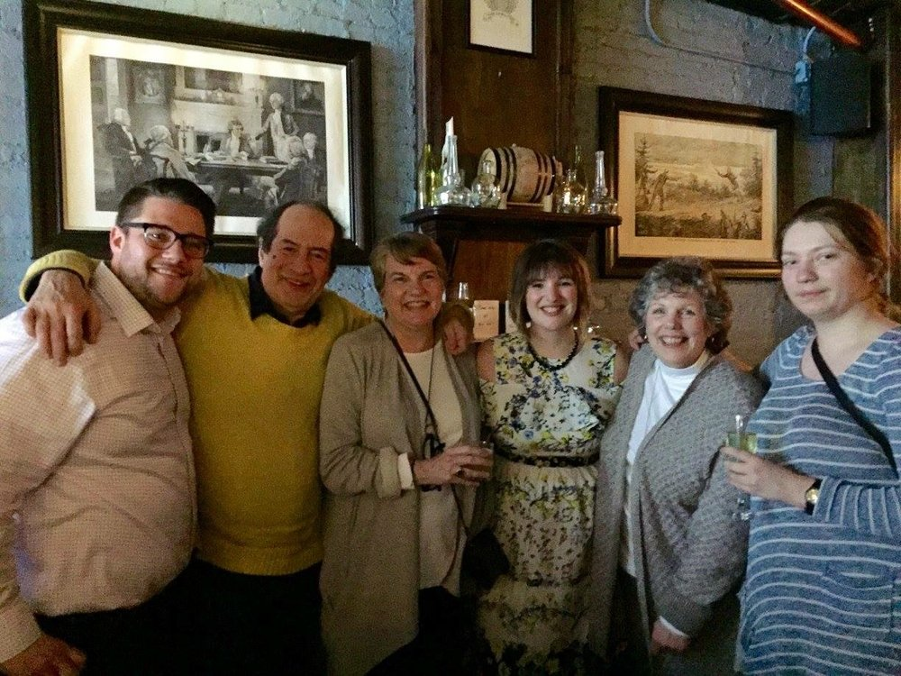 My Family at The Hamilton After I Defended my Dissertation