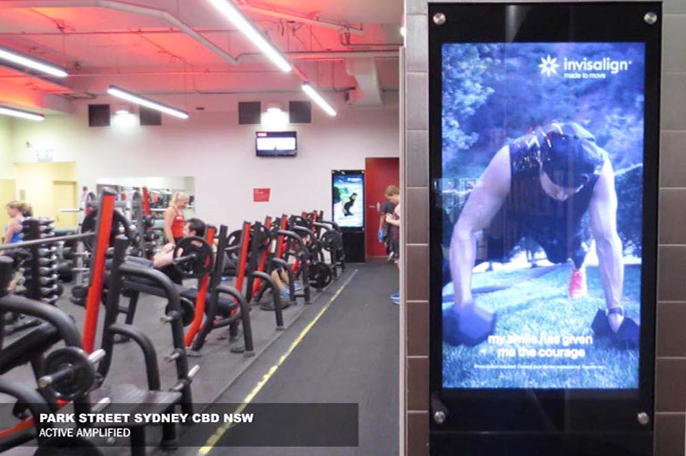 Fitness First activation - The original video content was repurposed into short form videos featured in screens through out 180 Fitness First gyms Australia wide.