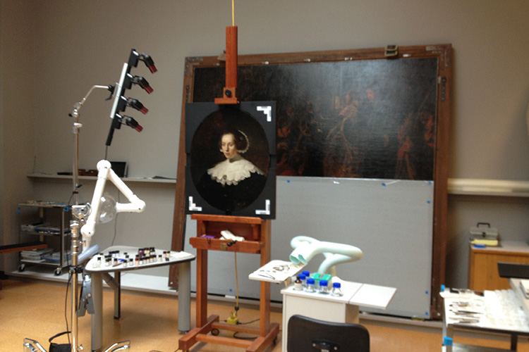 - Powerful photographic tools allow conservators to see below the surface of the painting.