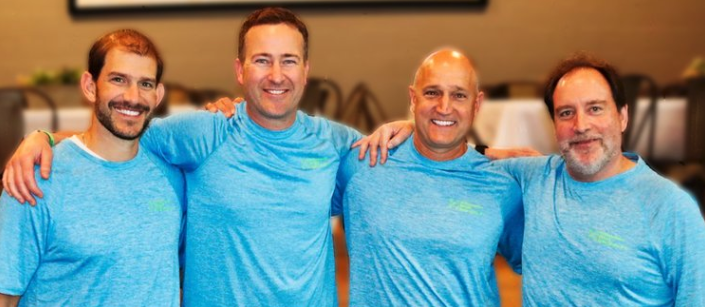 The four owners of Orthopaedic Rehab Specialists, P.C.- Brandon Klump, Aaron Holly, Kevin Barclay and owner/co-founder, Jerry Malone.