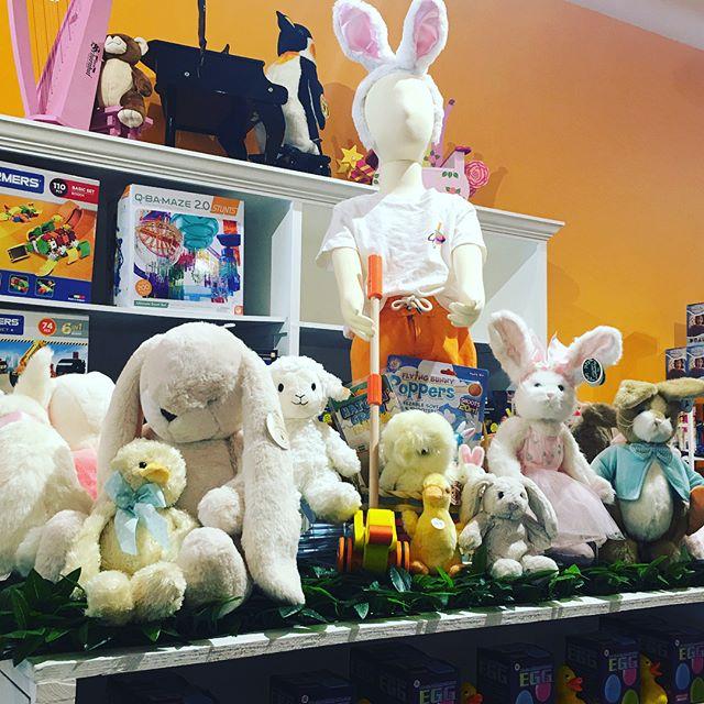 Let us help fill your Easter Baskets#Bunnysbythebay#stief#toysmith#bearingtonbears#hogwild#hape#specialtytoystore#palmbeach#toys
