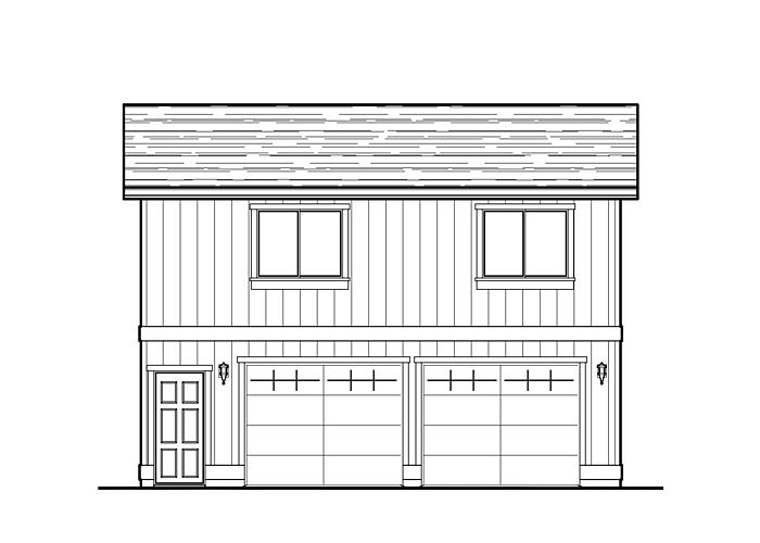 26x28 Garage with Living Space - Garage Sq. Ft.: 728 Sq. Ft.Upper Floor Sq. Ft.: 728 Sq. Ft.Bedrooms: 2Bathrooms: 1Garage: 2 Car