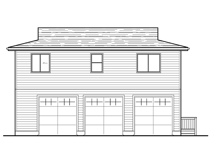 30x36 Garage with Living Space - Garage Sq. Ft.: 990 Sq. Ft.Upper Floor Sq. Ft.: 1040 Sq. Ft.Bathrooms: 2Garage: 3 Car