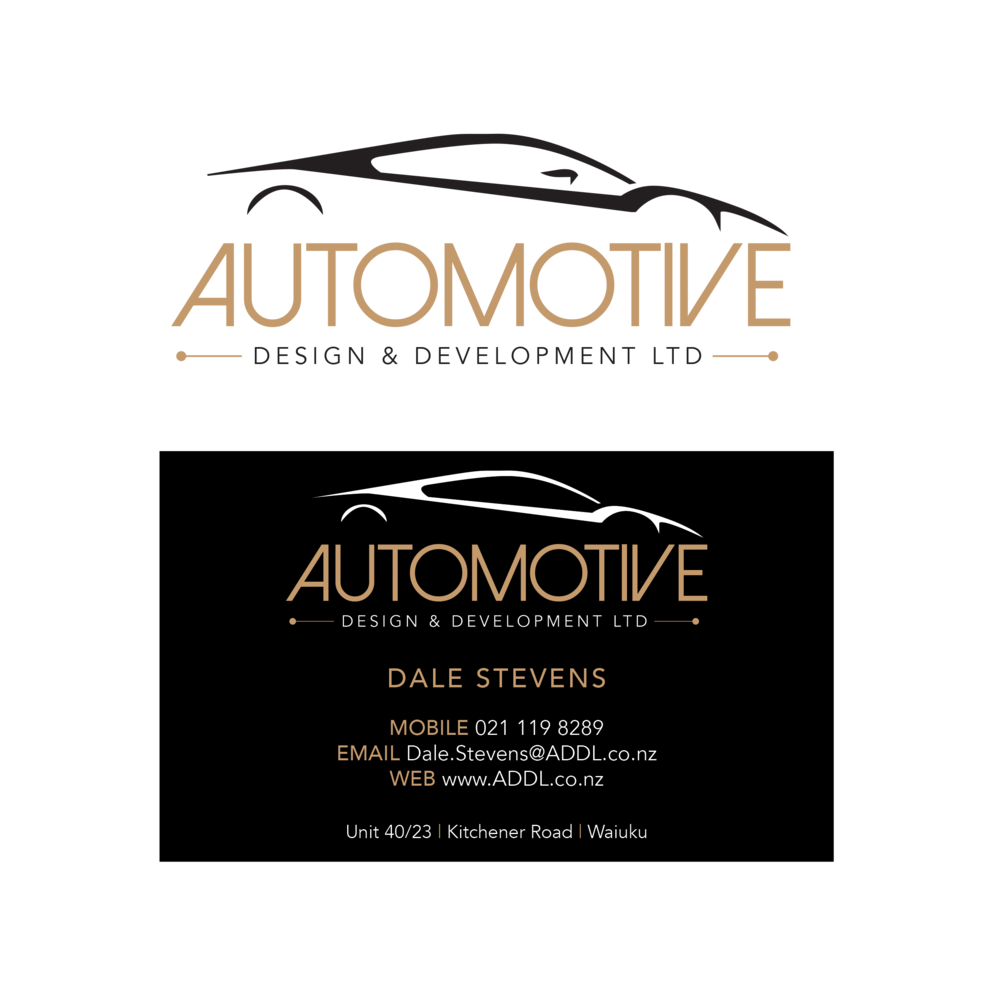 Automotive Design (business cards + logo)