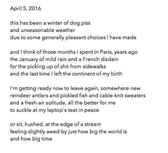 manymistypes :     sid branca - poem for april 5