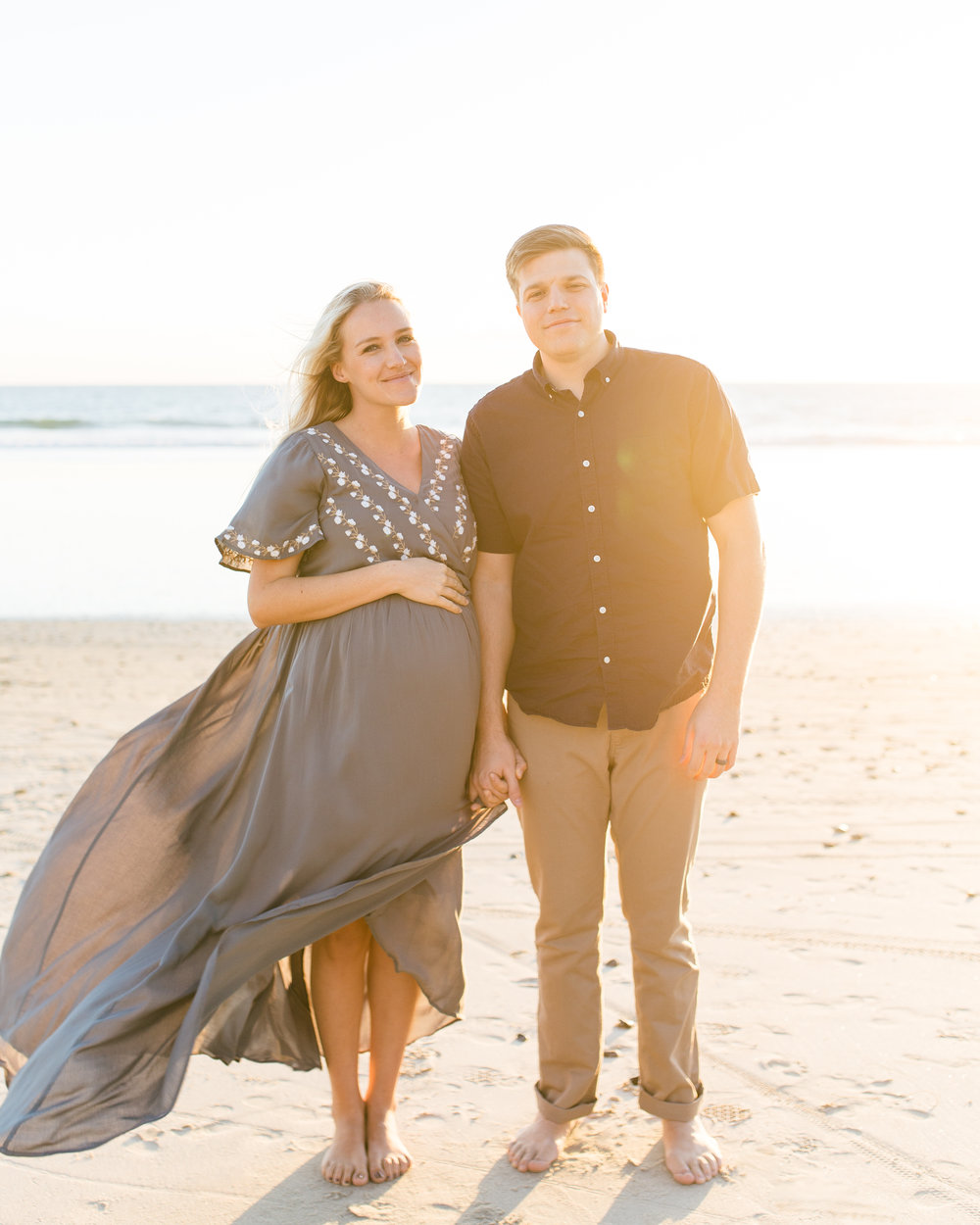 southern california maternity photo session