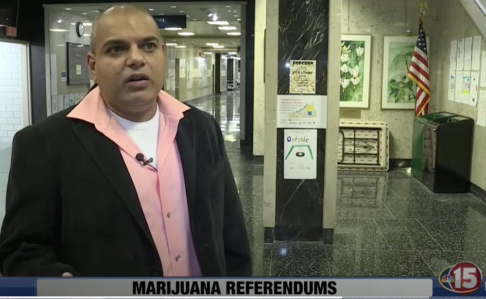 YOgesh chawla speaks to nbc 15 about the cannabis referendum.