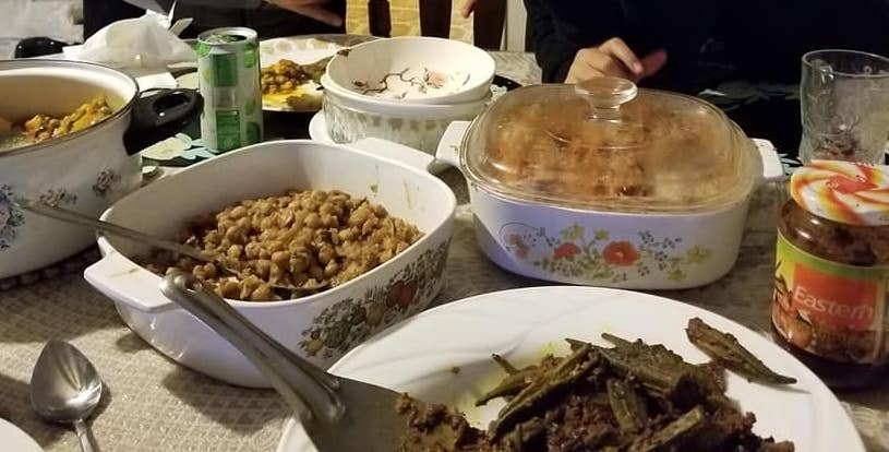 Thanksgiving Indian food spread at my parent's house