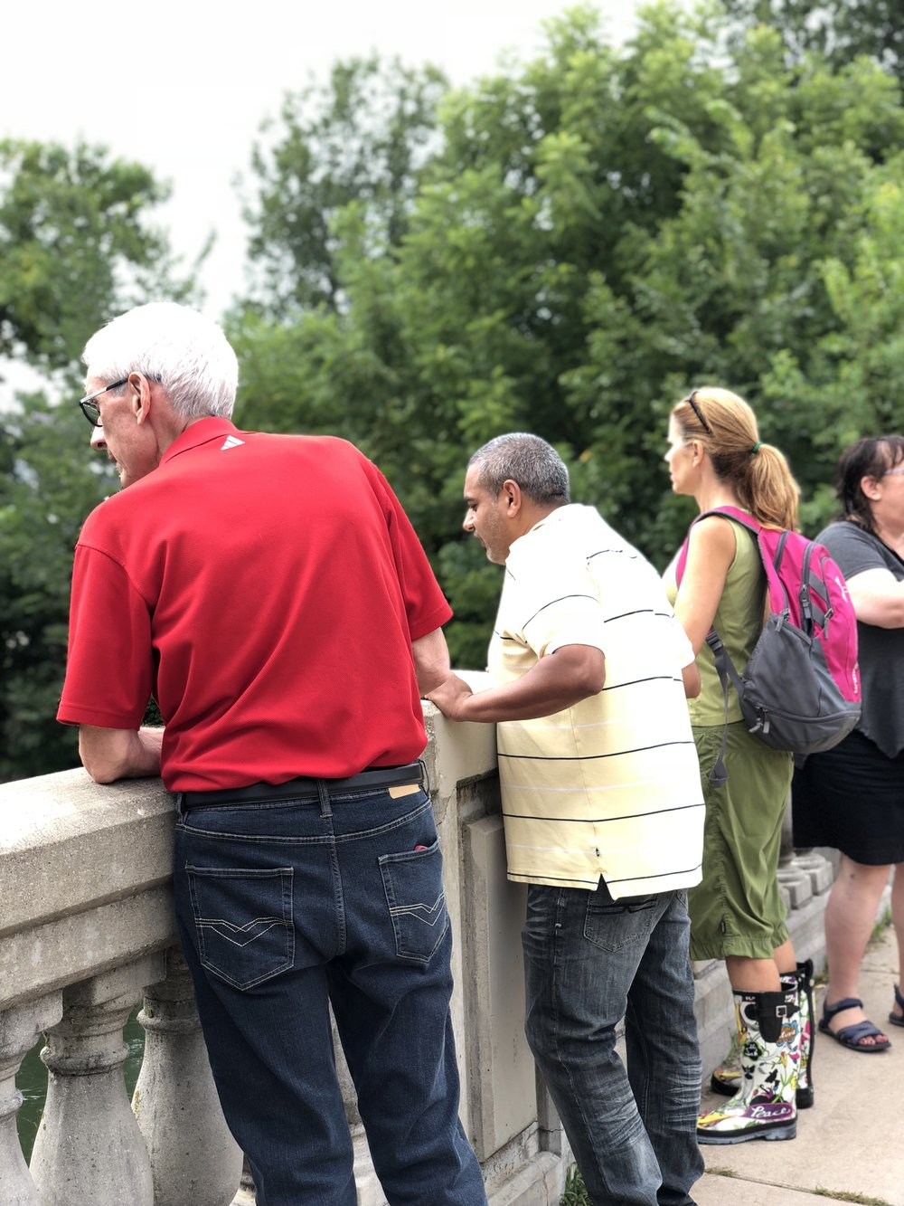 Yogesh tours the flood damage with future governor Evers, State Rep. Taylor and Alder Rummel