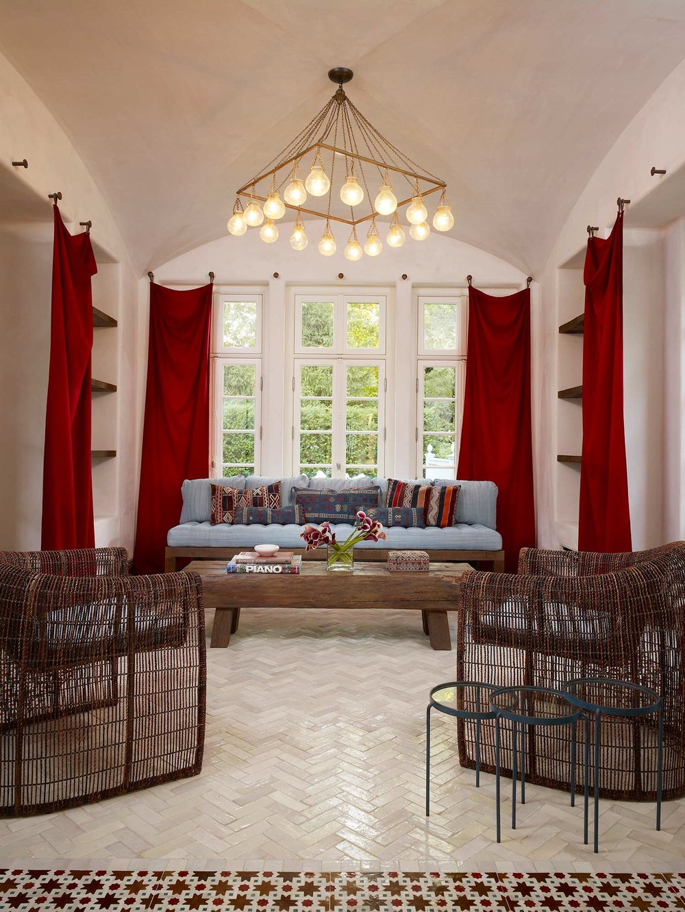 upholstery & window treatments  Interior Design: Leslie Jones & Associates, Inc.