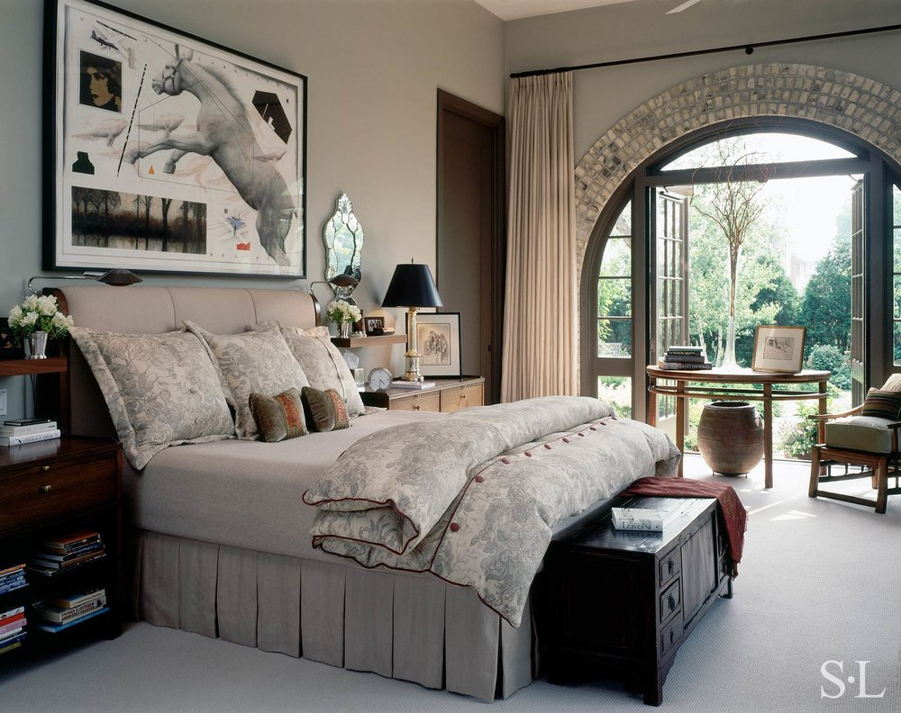 custom upholstery & bedding  Interior Architecture & Design: Suzanne Lovell, Inc.