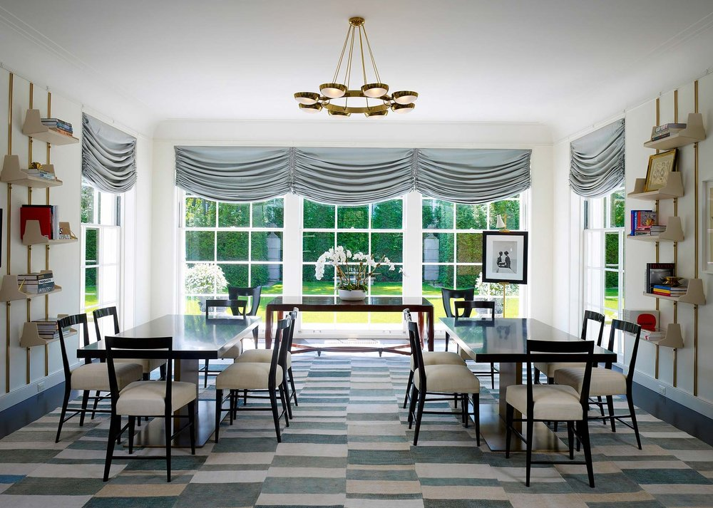 window treatments Interior Design: Leslie Jones & Associates, Inc.