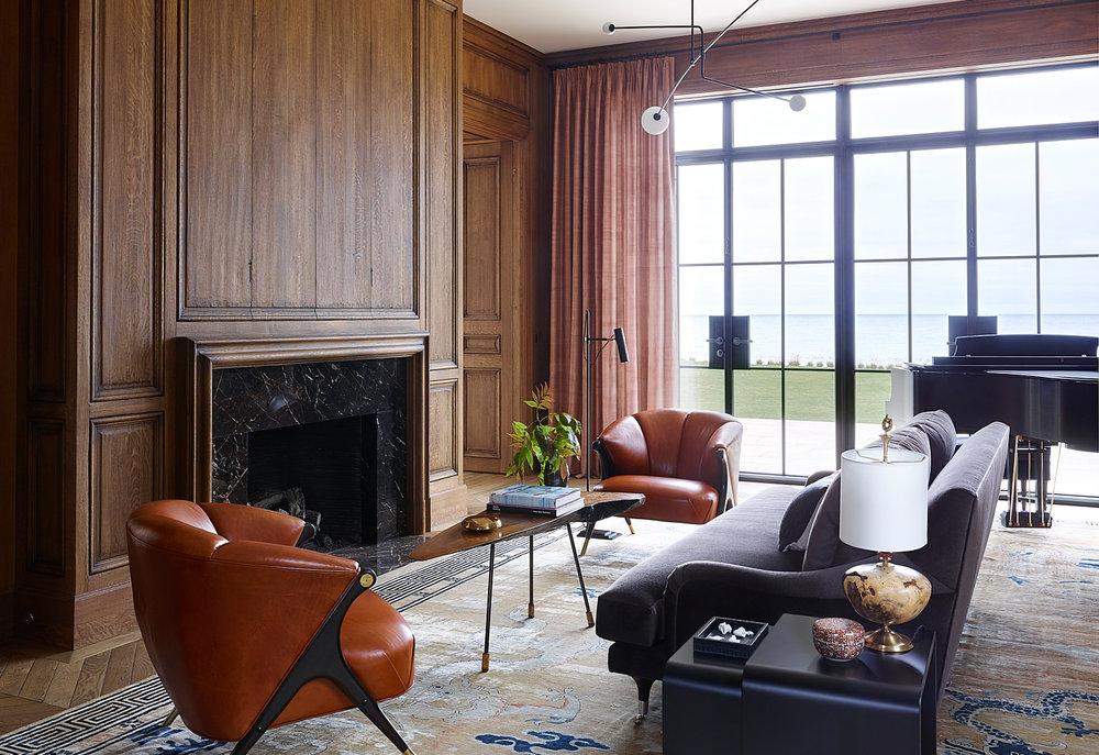 window treatments & custom decorative drapery hardware  Interior Architecture & Design: Kara Mann Design | Photography: Richard Powers