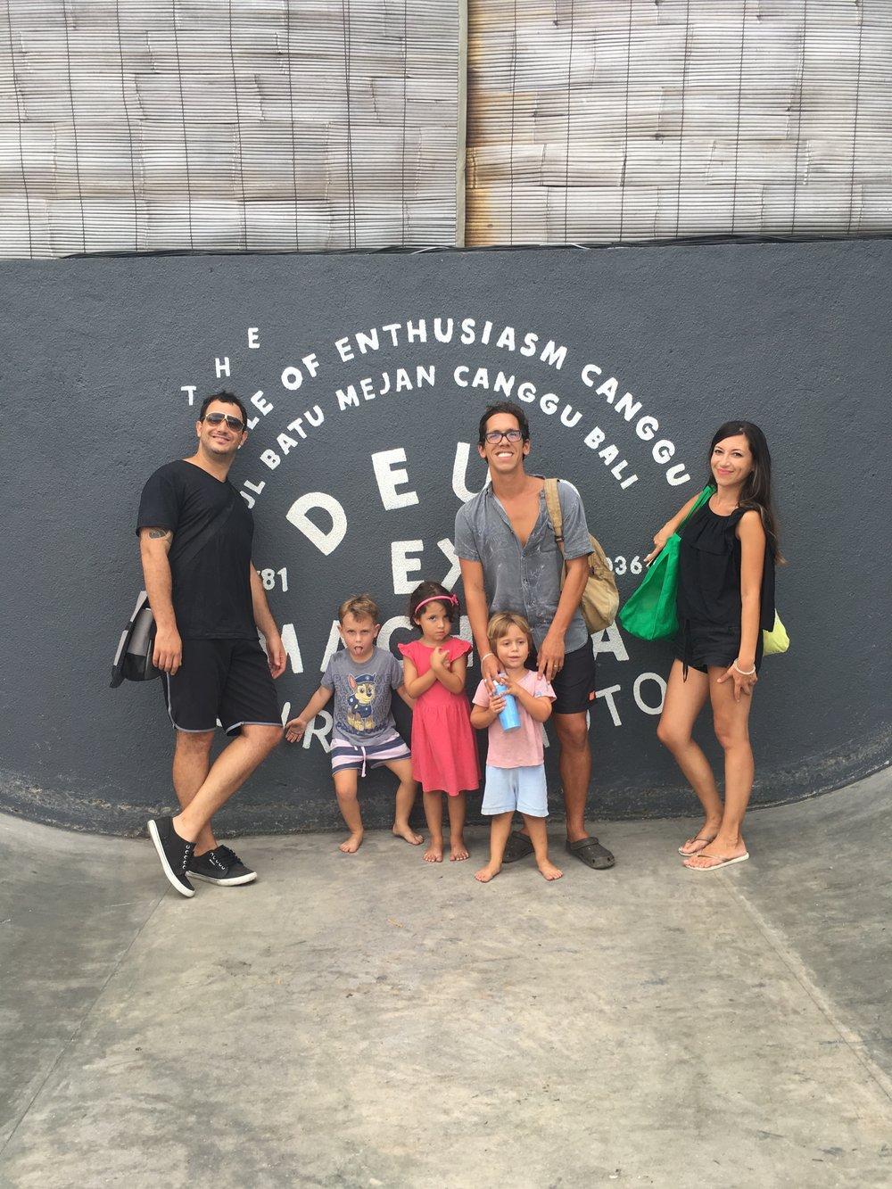 Con Andrés, Julia y Tina en Bali.