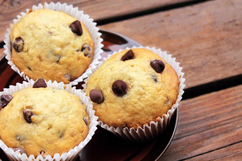 Banana Chocolate Chip Oatmeal Muffins -