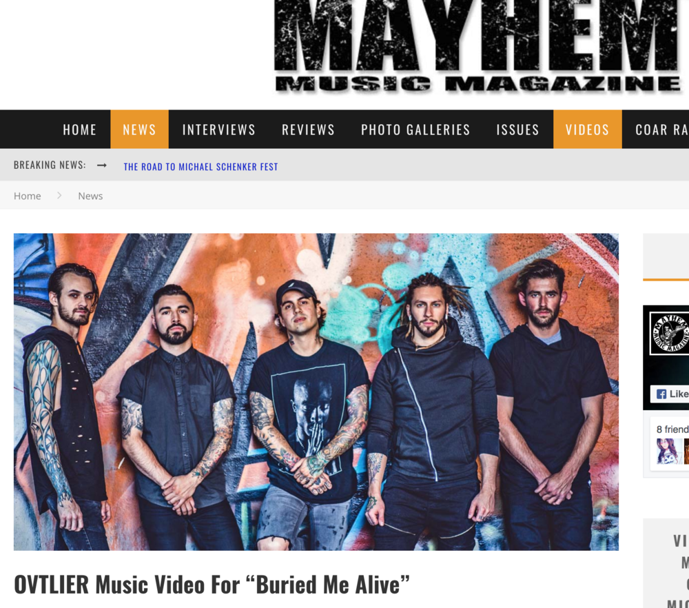 "Mayhem Music Video Premiere ""Buried Me Alive"" 🔗"