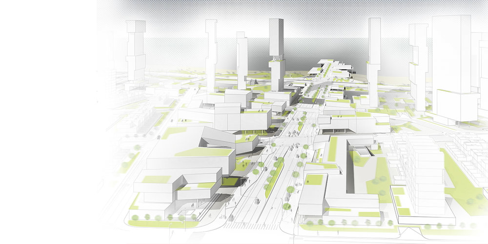 Qingdao Masterplan /// Client: China Railway Expo City /// Urban Planning /// Qingdao, China /// https://www.studiojantzen.com/projects/qingdao-masterplan-china