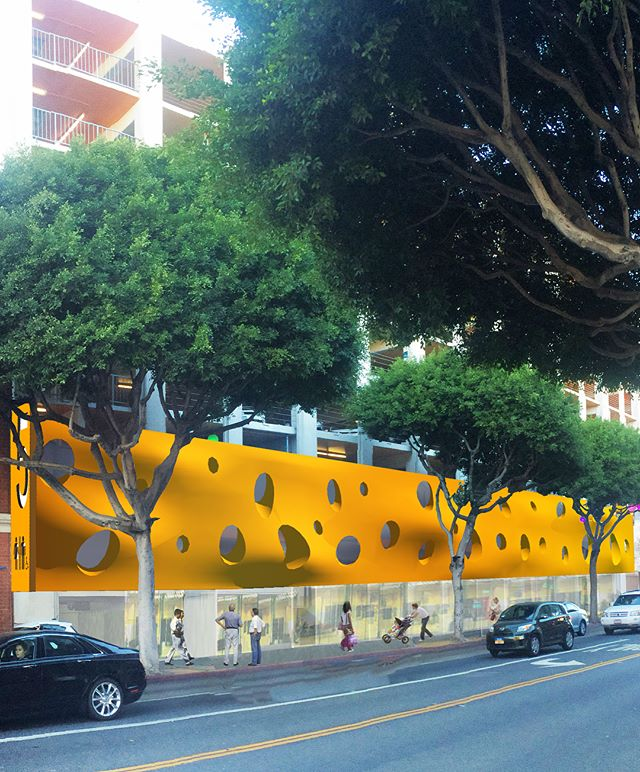 In progress - from boards to finished project: City of Santa Monica Parking Structure No. 5. A re-design set on enriching the pedestrian experience for the ground floor and façade of this large parking structure. Focused on public's engagement at street-level within a busy streetscape, the new design also supports a new identity, and orientation within the parking structure. . . . . #architecture #design #publicspaces #parking #structure #santamonica #retail #commercial #publicrestrooms #visualconnections #retailspaces #streetscape #facade #studiojantzen #changesomething #madeinlosangeles #madeinsantamonica