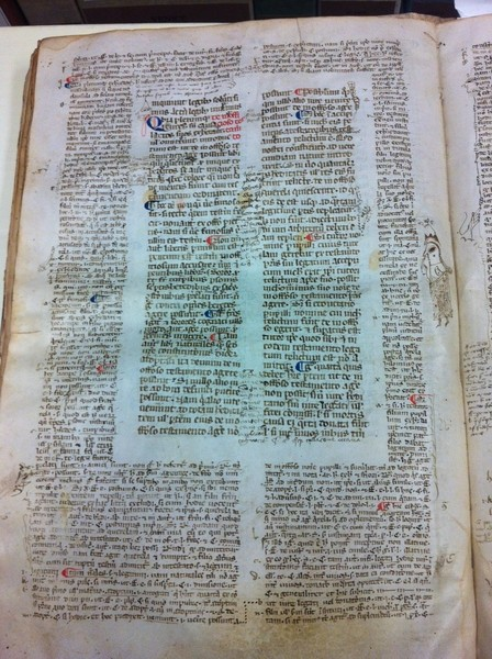 "This 14th century Roman legal manuscript is complete with marginal notes known as ""glosses"" or ""doodles"" (Library of Congress photos)"