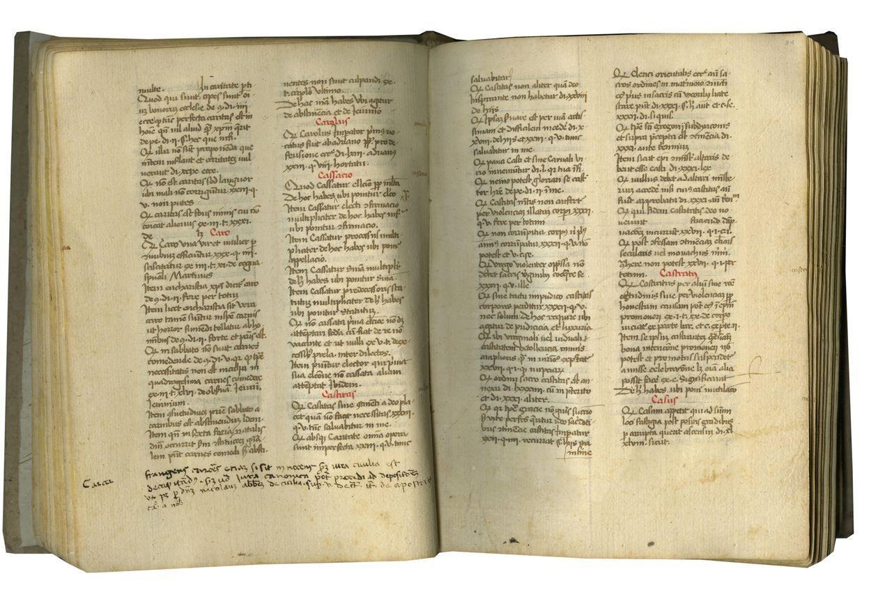 Medieval Manuscsript Containing Margarita Decreti et Decretalium of  Martinus Polonus, c  1425-1450 — The Friends of the Law Library of Congress