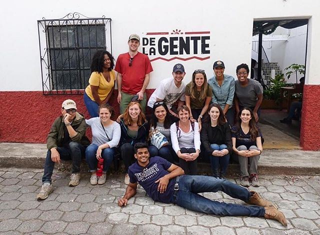 GFE's Peter and Giselle are in Guatemala this week with a group of @emorygoizueta MBA students. The group had the chance to participate in De la Gente's coffee tour, learn more about their business model to empower smallholder coffee farmers, and participate in the coffee picking process.  Many thanks to our friends at @dlgcoffee for being such great hosts. Stay tuned for more updates from coffee country in Central America!  #entrepreneurship #coffeefarm #delagente #gfempowerment #goizueta #specialtycoffee #allyouneedisguatemala